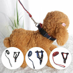Adjustable Dog Harness Front Strap Chest with Nylon Leash Long Leash Set