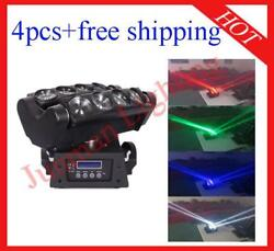 812w Rgbw 4 In 1 Led Beam Moving Head Spider Wash Stage Light 4pcs With Case