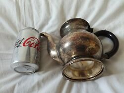 Vintage Silver Plated Etched Epns Teapot Stamped Arthur Price Coffee Pot