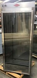 Roll-thru Hot Food Holding Cabinet Nsf For 72 High Carts Glass And Solid Door