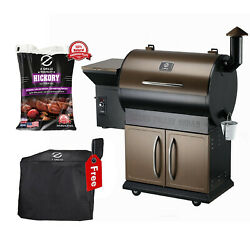 Z Grills Zpg-700d Wood Pellet Grill Bbq Smoker Digital Control With Cover