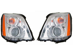 Cadillac Dts 06 07 08 09 10 11 Hid Type Headlight With Bulb Ballast Pair Set