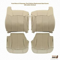 2000 2001 2002 Chevy Tahoe Suburban Upholstery Leather Seat Cover In Shale Tan