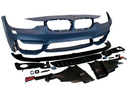 M3 Fog Style Front Bumper Kit w/ Aero Lip For 12 13 14 15 BMW F30 3-Series