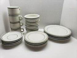 Vintage Restaurant Ware Sterling Vitrified China East Liverpool Ohio 4 Place Set