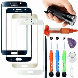 For Samsung Galaxy S6 Replacement Front Touch Screen Lens Glass Loca Liquid Glue