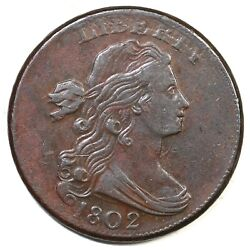 1802 S-238 R-4 Draped Bust Large Cent Coin 1c