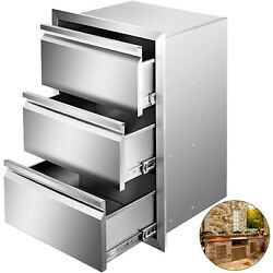 15x25.4 Outdoor Kitchen Drawers Triple Access Storage Bbq Drawer Grill Station