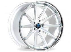 """20"""" Rohana Rc10 Machined Silver Concave Rims For Audi A4 S4 A6 S6 A5 S5 A7 S7 Q5"""