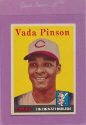 1958 Topps Vada Pinson 420 Reds Rookie Card Ex-mt Centered