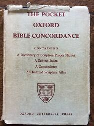 The Pocket Oxford Bible Concordance A Dictionary Of Scripture Proper Names Wi..