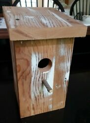 Bird House Crafted From Reclaimed Wood, Upstate Woodcrafts New