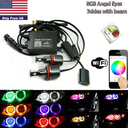 H8 RGB Phone WIFI Angel Eyes Halo LED Canbus Ring Marker Bulb For BMW E93  X5 M3