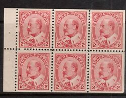 Canada 90b Very Fine Never Hinged Booklet Pane Natural Inclusion In Ll Stamp