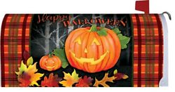 Happy Halloween Pumpkin Magnetic Mailbox Cover