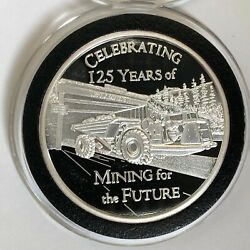 Hecla Mining For The Future 1 Troy Oz .999 Fine Silver Ag Round Proof Coin Medal