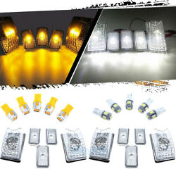 10x Amber White LED Cab Marker Roof Top Light For 2003-2009 Hummer H2 SUV SUT