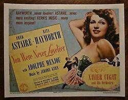Reduced 84 You Were Never Lovelier '42 Tc Astir And Hayworth Xavier Cugat