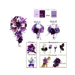 Purple Lavender And White Artificial Wedding Flowers Build Your Package