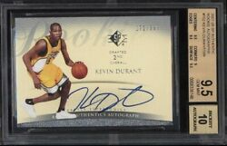 2007-08 Kevin Durant Upper Deck SP Authentic RC Rookie Auto /399 BGS 9.5 / 10