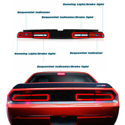 Smoke Led Rear Lamp Tail Light For 08-14 Dodge Challenger W/sequential Indicator
