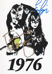 Kiss Andmiddot Eric Singer Andmiddot Tommy Thayer Andmiddot Autogramm