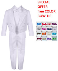 SPECIAL OFFER BOYS WHITE TAIL PENGUIN TUXEDO FREE COLOR BOW TIE ALL OCCASION