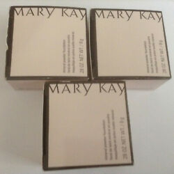Mary Kay Mineral Powder Foundation  3 boxes of Beige 1   0.28 OZ