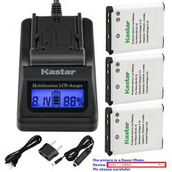 Kastar Battery LCD Fast Charger for EN-EL19 & Nikon Coolpix S3700 Coolpix S4100