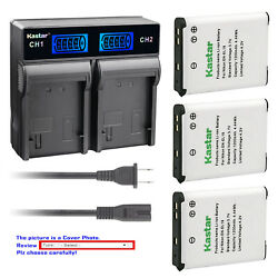 Kastar Battery LCD Rapid Charger for EN-EL19 & Nikon Coolpix W100 Coolpix S100