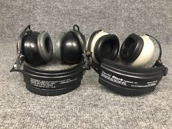 2 David Clark Headsets H133c/a1c And H10-76 For Parts Or Repair