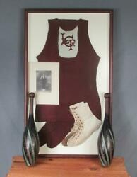 Vintage Gymnast Uniform Boots Indian Pin Clubs Photo Lehigh Turn Of The Century