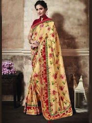 Indian Bollywood Designer Printed ethnic Saree Blouse Fabric Free Ship for women