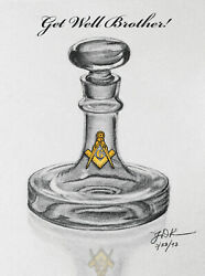 Time-in-a-bottle Art - Get Well Brother - Masonic - 8 Note Cards W/envelopes