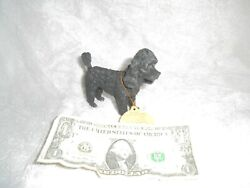 The Canine Collection ~black poodle  ~ Polyresin Pedigree Dog Figurine No box