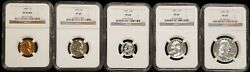 1955 Silver Proof Set Ngc Pf69 W/rd Lincoln Cent Top Population Set