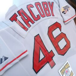 Mlb World Series 07 Tacoby Boston Red Sox Jersey Taco Bell Rare Edition Framed