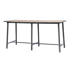 86.5 Ester Bar Table Washed Old Oak Iron Waxed Black Reclaimed Wood