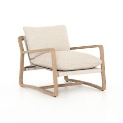 30 W Pasquale Outdoor Occasional Chair Hand Crafted Teak Frame 100 Olefin