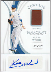 2019 Immaculate Collection Cowhide Auto Relic Platinum KERRY WOOD #C-KW Cugs 11