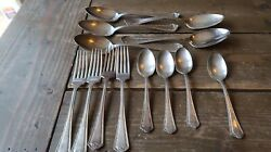Wm Rogers And Sons Lot Of Flatware Forks Spoons