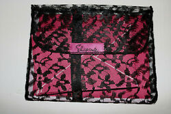 Schiaparelli Shocking Pink Papeteries Stationery Set In Lace Holder Vintage