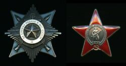Soviet Russian Order Of Service To The Homeland + Order Of The Red Star Group