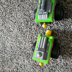 Green Toy Trucks Attachable Rocket Convoy 3 Vehicles Tanks Military Pretend Play