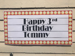 Personalized Broadway Theatre Marquee Happy Birthday Banner Custom 24x48