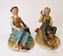 Old People Figurines man woman large 6 3 4quot;