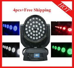 3610w Rgbw 4 In 1 Wireless Dmx Led Zoom Moving Head Light 4pcs Free Shipping