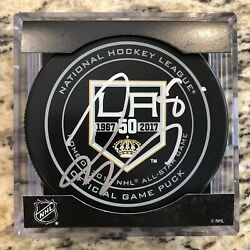 Drew Doughty Signed La Kings 50th Anniversary Official Nhl Game Puck 2016 Norris