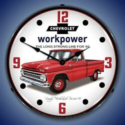 1965 Chevrolet Pickup Truck Wall Clock Led Lighted