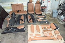 Bmw F33 Convertible Rear And Front Sport Heated Seat Chairs Set Brown 30k Oem